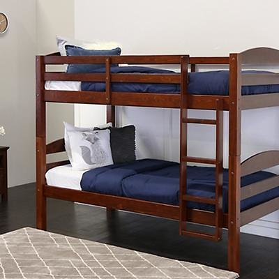 W. Trends Twin-Size Solid Wood Bunk Bed - Espresso