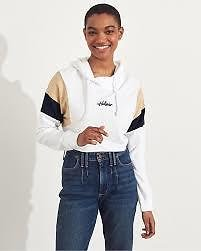 $10.48 Hollister Ultra Crop French Terry Hoodie (Multiple Colors)