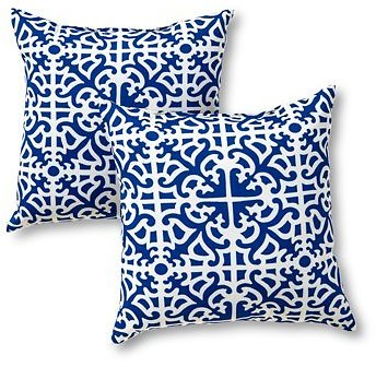 Lattice 17 X 17 In. Outdoor Accent Pillow, Set of 2