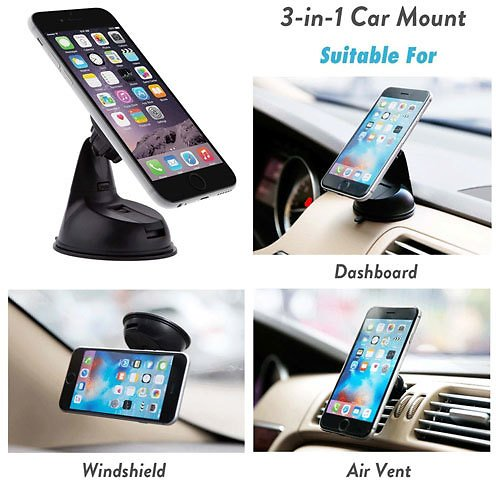 Alphabet Deal | Encust Universal 3 in 1 Dashboard Magnetic C| Price : $13.99