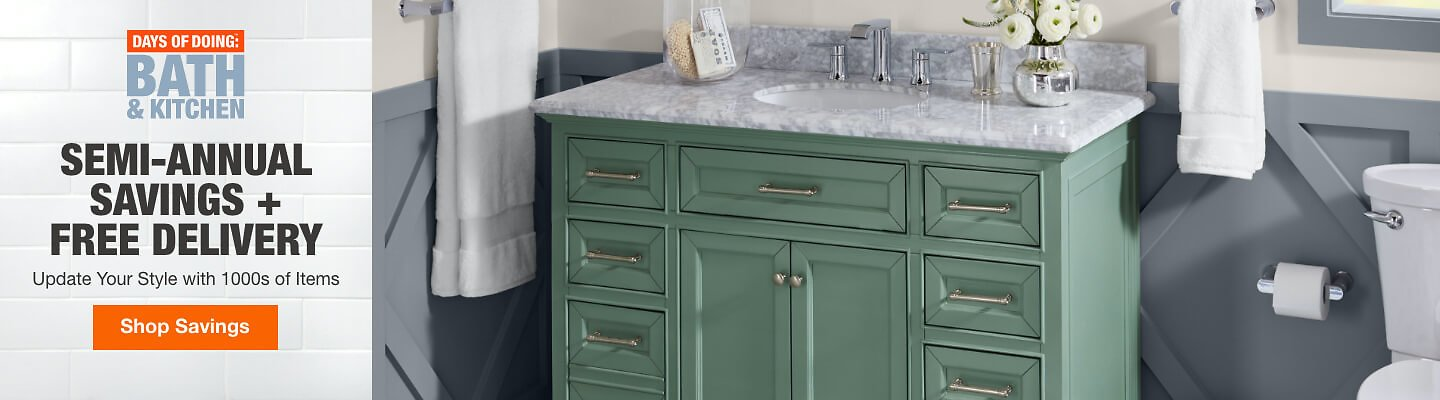UP TO 40% OFF Select Bath & Kitchen Essentials  – Home Depot