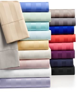 Charter Club Stripe Sheet Sets, 550 Thread Count 100% Supima Cotton, Created for Macy's & Reviews - Sheets & Pillowcases - Bed & Bath