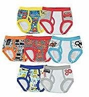 7 Pack Handcraft Little Boys' Disney Cars  Brief, Assorted(2T-4T)