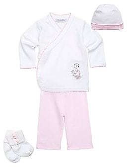 Royal Baby - Baby Girl's 4-Piece Seal Cotton Set