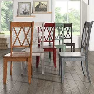 2 INSPIRE Q Classic Eleanor Double X Back Wood Dining Chair