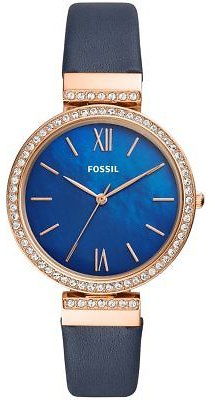 Fossil Women's Madeline Navy Leather Strap Watch 38mm & Reviews - Watches - Jewelry & Watches