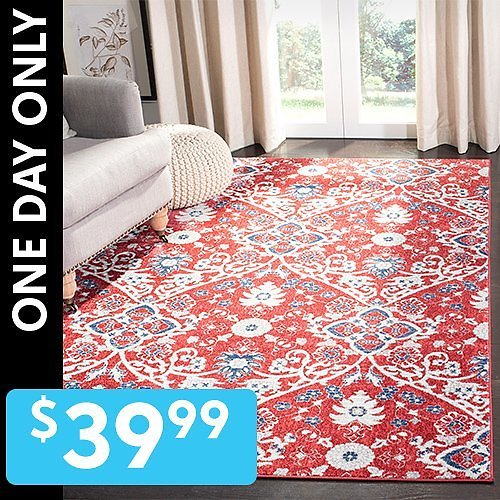 Roll Up a 5' X 7' Rugs $39.99(Multiple Styles)