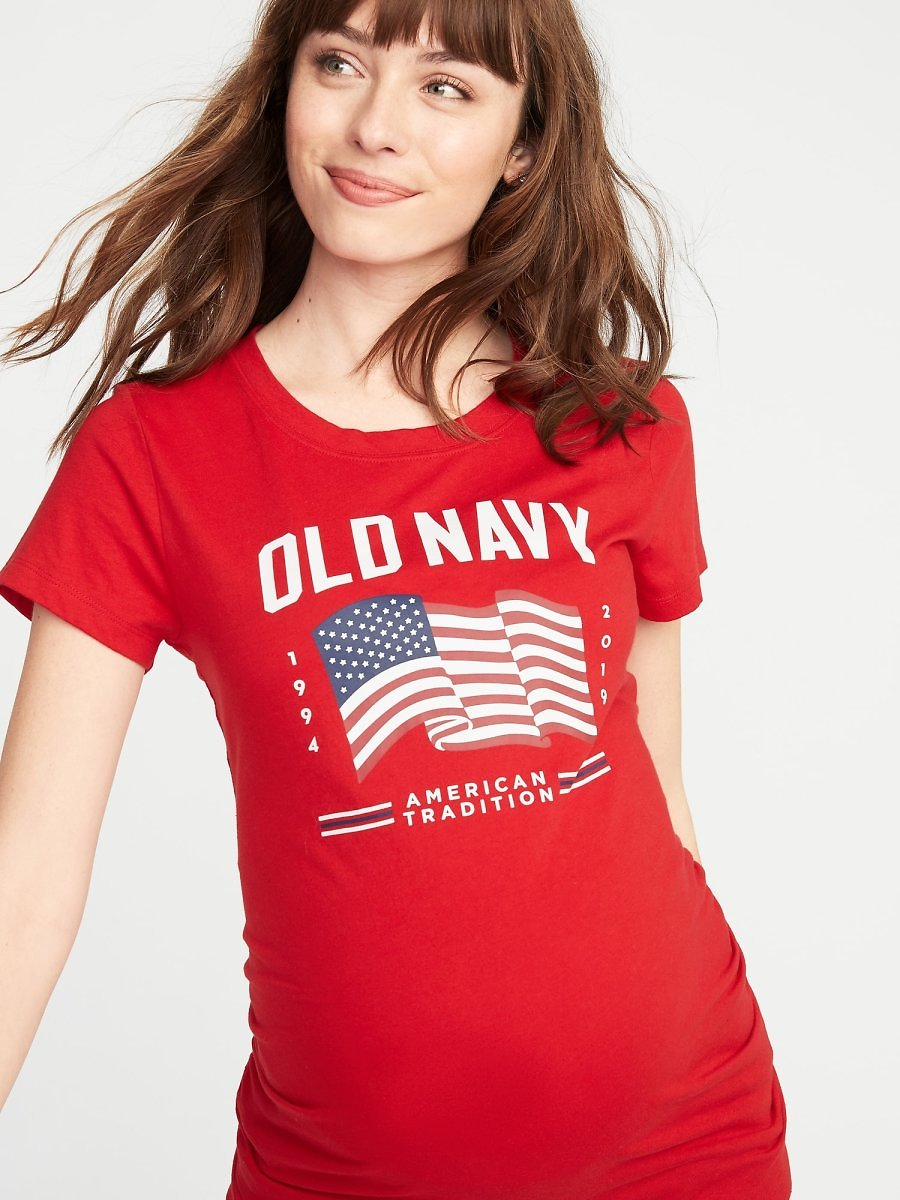 Maternity 2019 Flag Graphic Tee | Old Navy