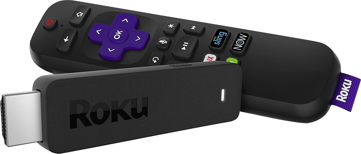 Roku Streaming Stick with Voice Remote with TV Power and Volume Black 3800R