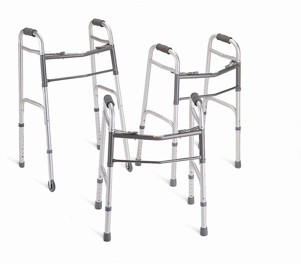 Medline Junior Two-Button Folding Walker with 5