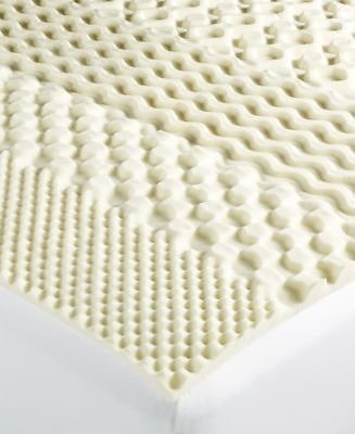 Martha Stewart Collection 7-Zone Twin Memory Foam Mattress Topper, Created for Macy's & Reviews - Mattress Pads & Toppers - Bed & Bath