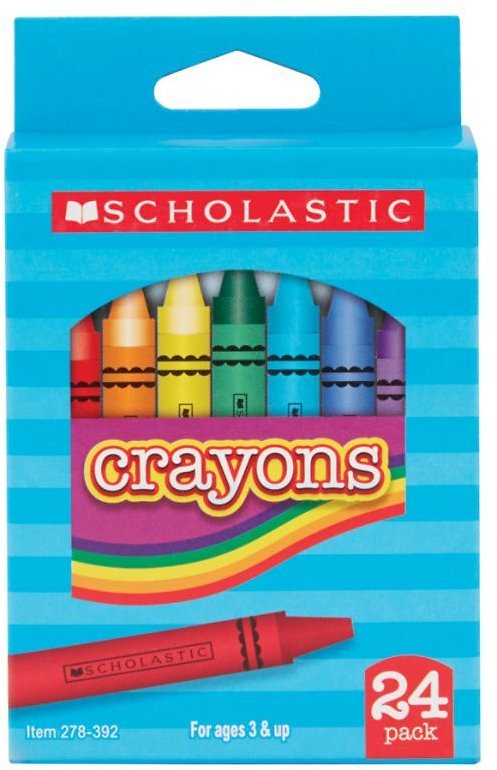 24-Pack Scholastic Assorted Crayons