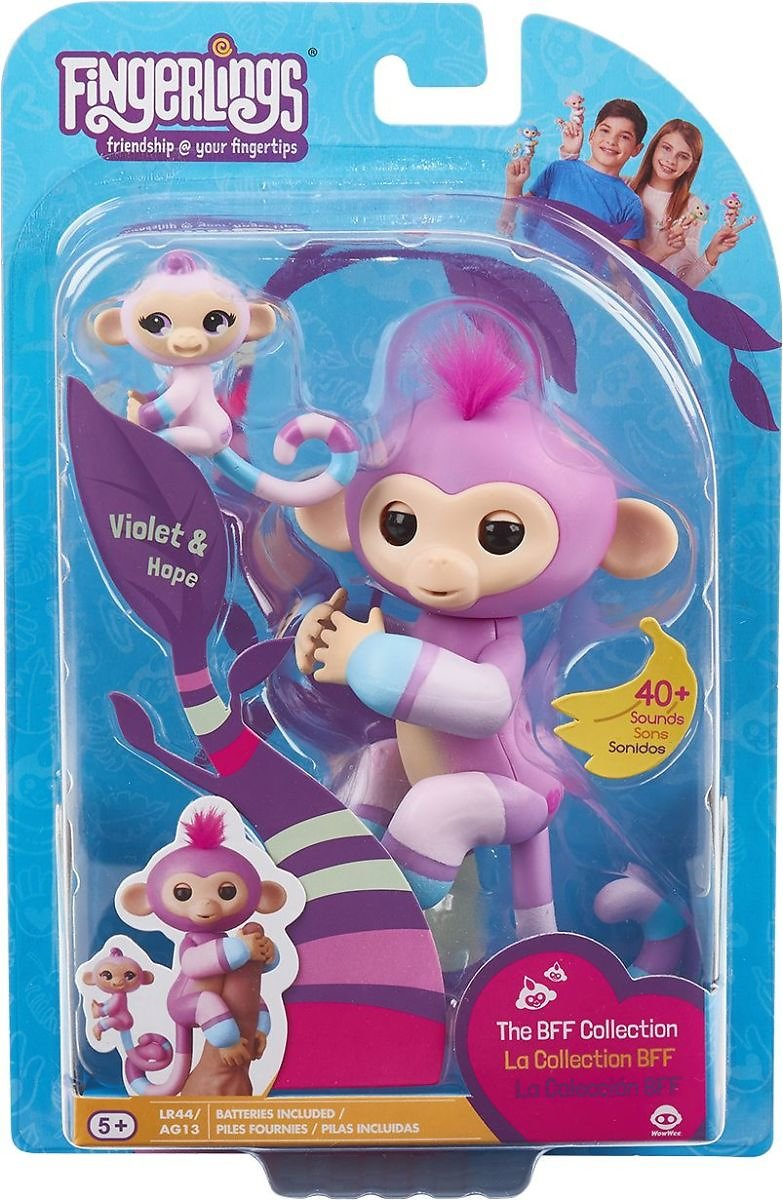 WowWee Fingerlings Violet & Hope Blue/Mauve 3543