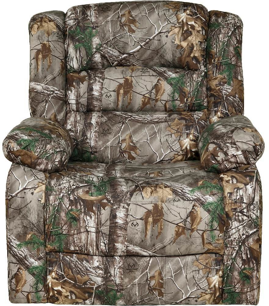 Relaxzen Rocker Recliner with Massage, Heat and Dual USB Realtree Camo 60-7010CFM