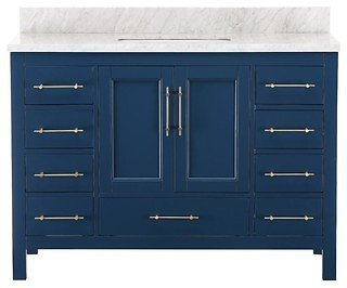 Kendall Blue Bathroom Vanity - Contemporary - Bathroom Vanities And Sink Consoles - By Houzz