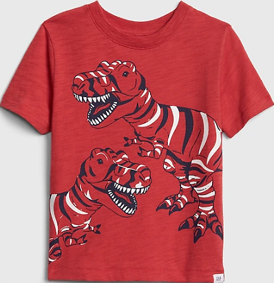 Now 77% Off - Toddler Dinosaurs Graphic Short Sleeve T-Shirt