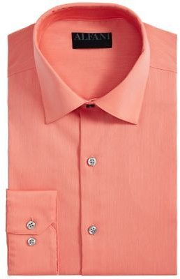 Alfani AlfaTech By Men's Big & Tall Bedford Cord Dress Shirt, Created For Macy's & Reviews - Dress Shirts - Men