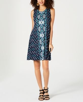 Style & Co Printed Swing Dress, Created for Macy's & Reviews - Dresses - Women