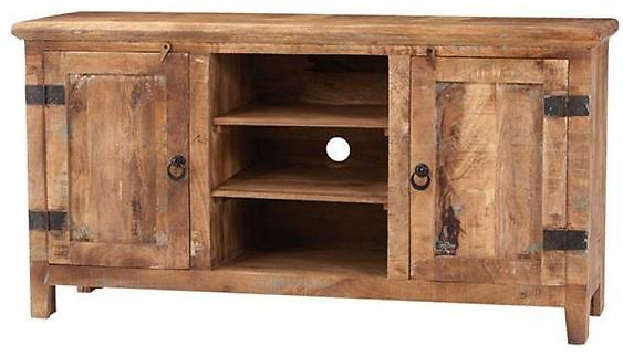 (Ships Free) Home Decorators Collection Holbrook Natural Reclaimed Entertainment Center