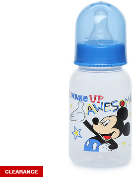 Now 76% Off - Mickey Mouse 5 Oz. Baby Bottle - I Wake Up Awesome