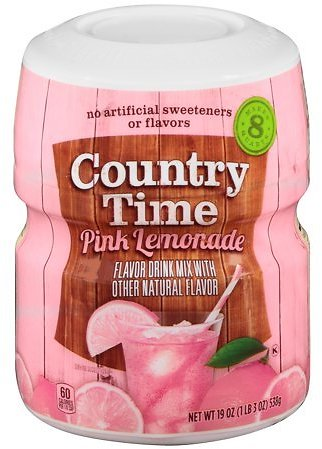 (12 Pack) COUNTRY TIME Pink Lemonade Sugar Sweetened Powdered Soft Drink 23.9 Oz. Cannister Average Rating:4.6207out Of5stars, B