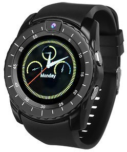 Bakeey V8s 1.22' IPS Curved Screen GSM Watch Phone Sleep Monitor Music Player Camera Smart Watch
