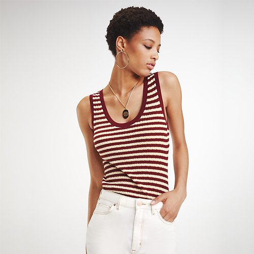 Sale+ Extra 40% Off Zendaya Lurex Stripe Top | Tommy Hilfiger