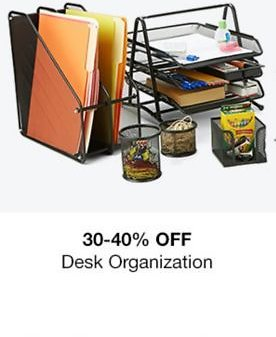 30-40% Off Desk Accessories Cleaning & Organization