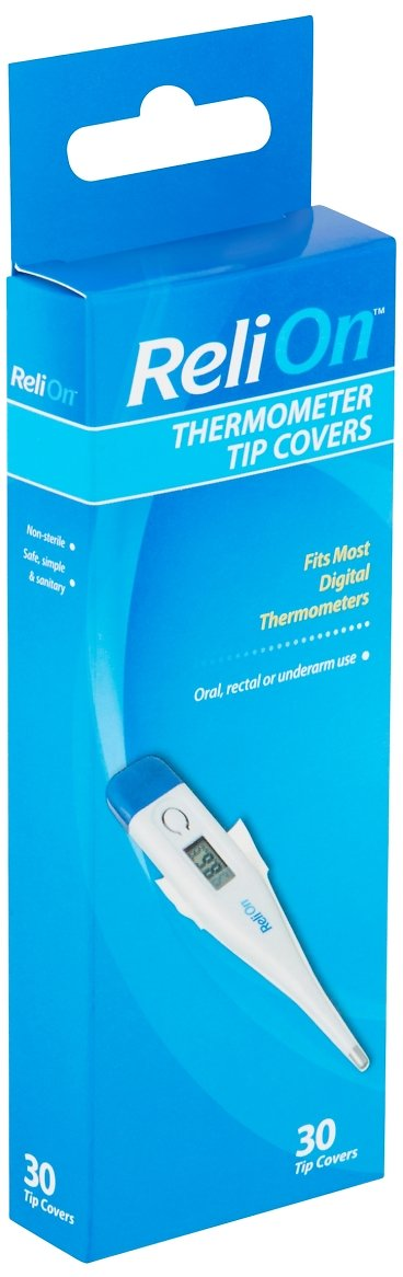 ReliOn Thermometer Tip Covers, 30 Count