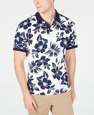 Club Room Men's Hibiscus Flower-Print Polo, Created for Macy's & Reviews - Polos - Men
