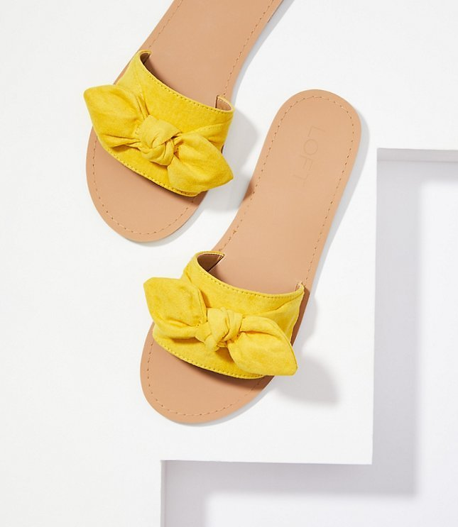 Now 40% Off - Refined Slide Bow Sandal