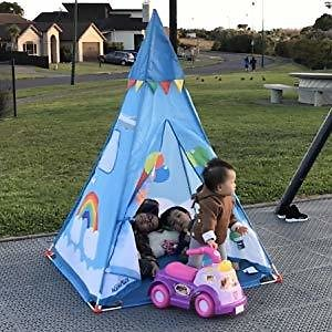NARMAY Teepee Tent Blue Fantasia Play Tent for Kids Indoor / Outdoor Play - 44 X 44 X 60 Inch: Toys & Games
