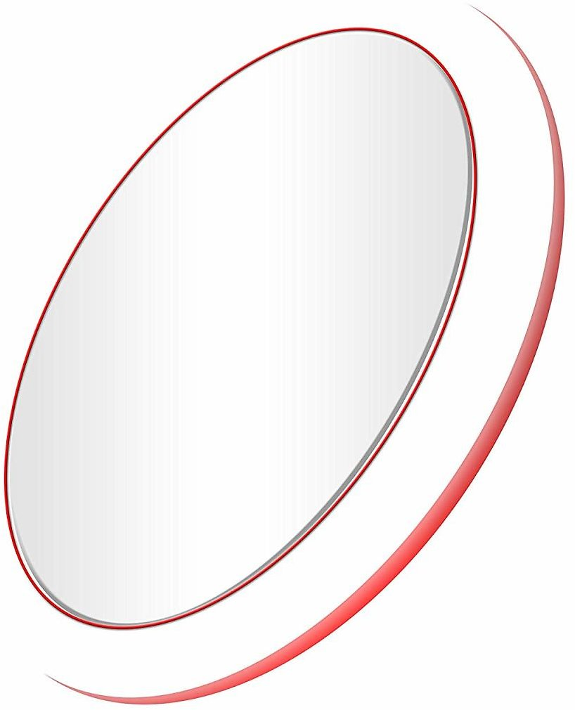 Mirrex LED Lighted Makeup Mirror, Vanity Mirrors with Lights, Portable Compact & Travel Cosmetic Mirror, with QI Wireless Charging Function for IOS/Android, Prefect Gift for Women( Red) : Beauty