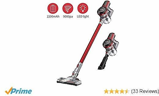 Cordless Vacuum Cleaner, Muzili Stick Vacuum Cleaner with 130W Strong Suction, Longer Run Time, LED Brush Lightweight Handheld Vacuum for Carpet Floor Stairs Pet Hairs Home Cars