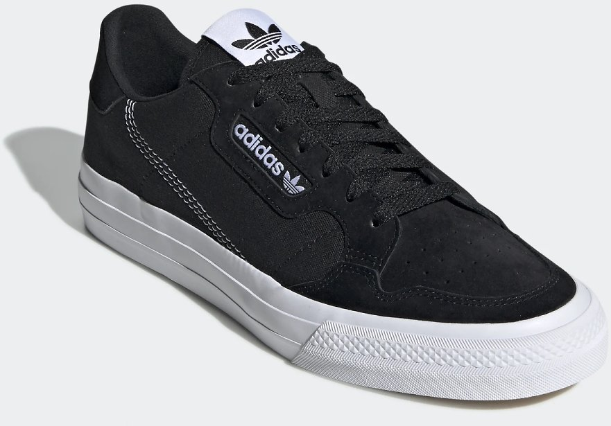 Adidas Unisex Continental Vulc Shoes - Black