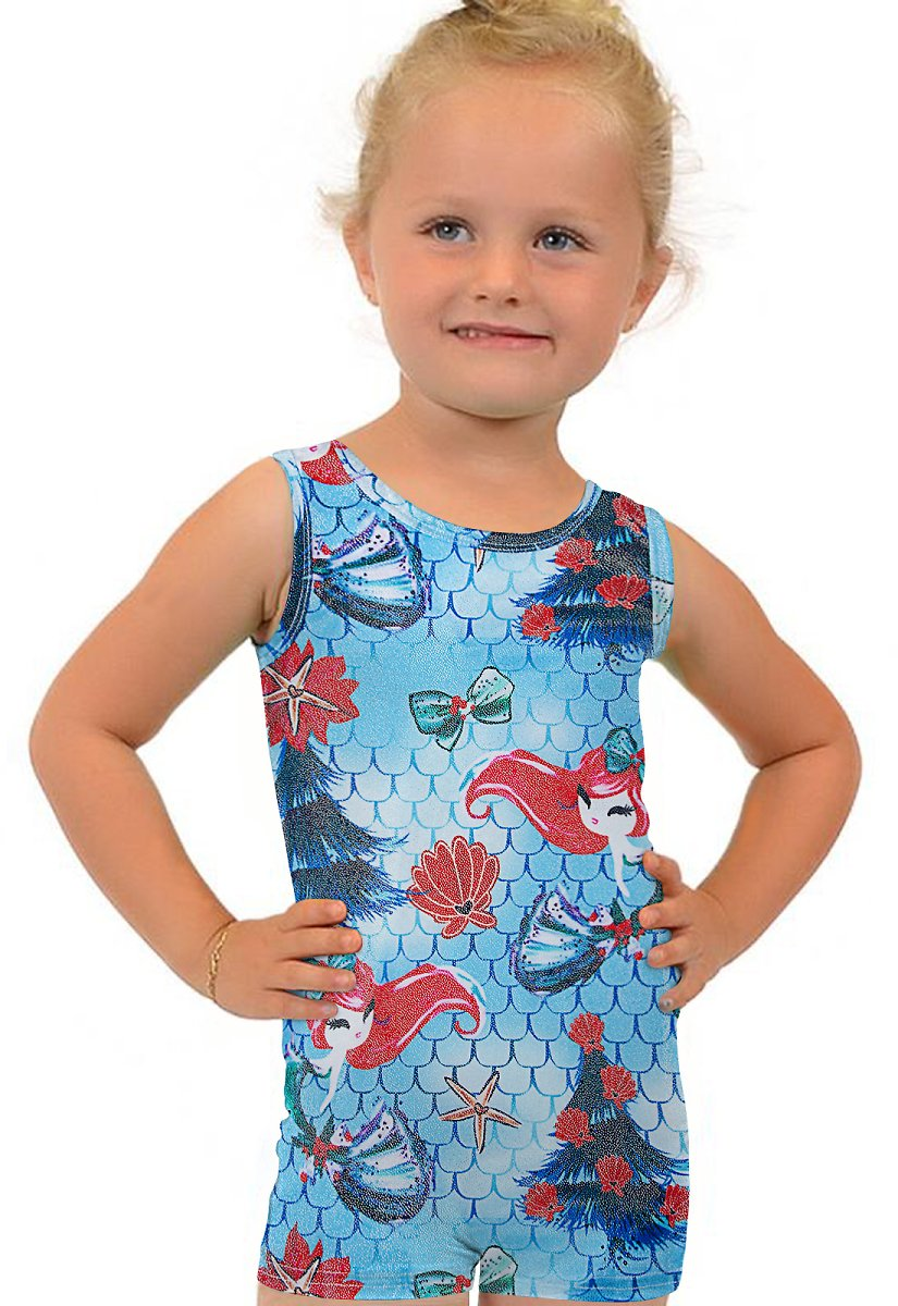 Hot Deal! Save Up to 35% for Mermaid Fish Scale Gymnastics Leotards for Girls 3-7 Years