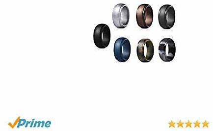 Up to 60% Off 7 Pack ATORX Silicone Wedding Ring for Men, Comfortable Silicone Wedding Bands for Men, 7 Color Silicone Ring