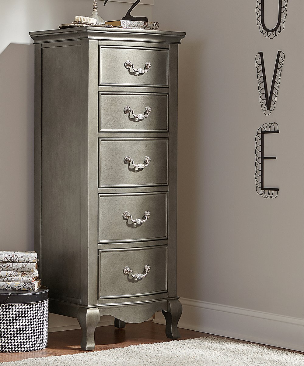 Silver Kensington Five-Drawer Chest