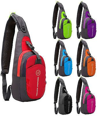 (Ships Free) Outdoor Waterproof Nylon Chest Shoulder Bag Travel Hiking Sports Camping New