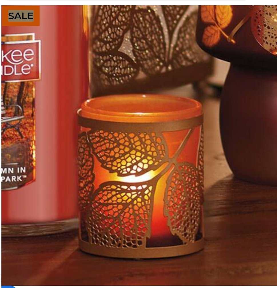 Amber Leaves Tea Light Candle Holder - Yankee Candle