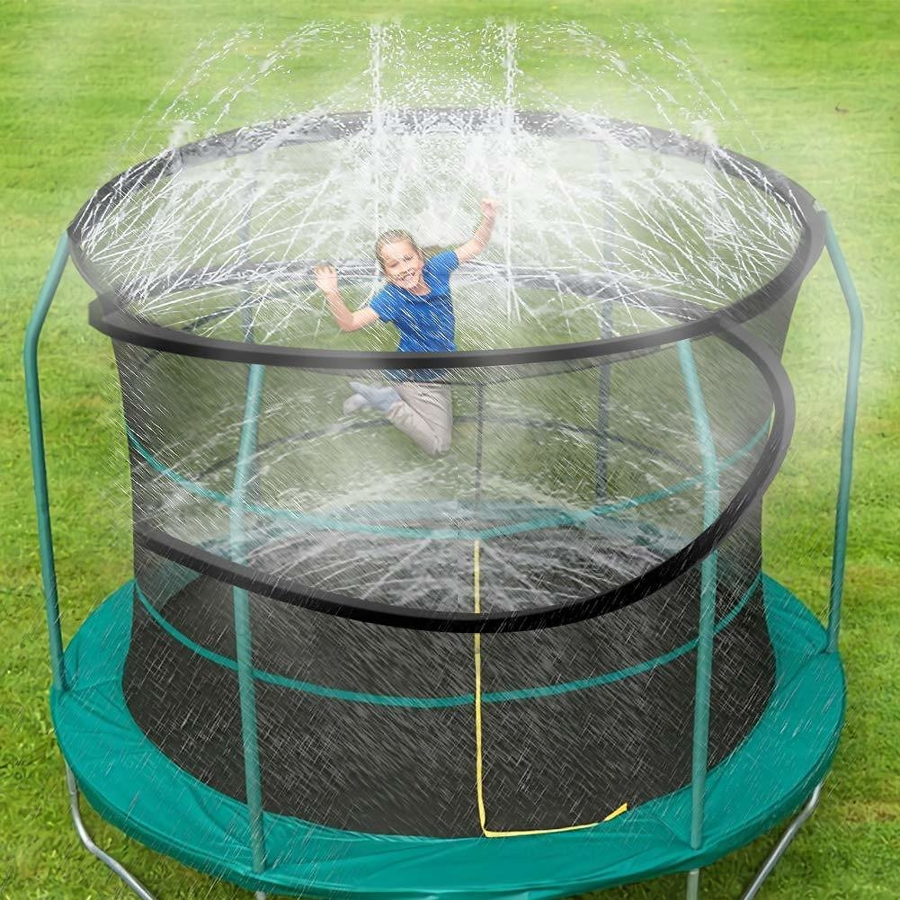 Trampoline Spray Water Park (39 ft, Black)