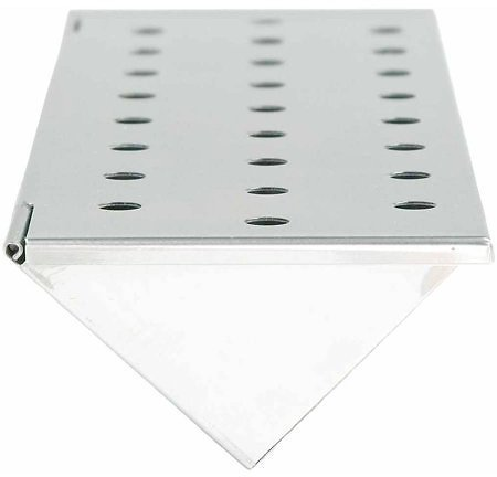 The Charcoal Companion Stainless Steel V-shaped Smoker Box for Gas Grills and BBQ, Long, CC4066 Image 1 of 4 The Charcoal Comp