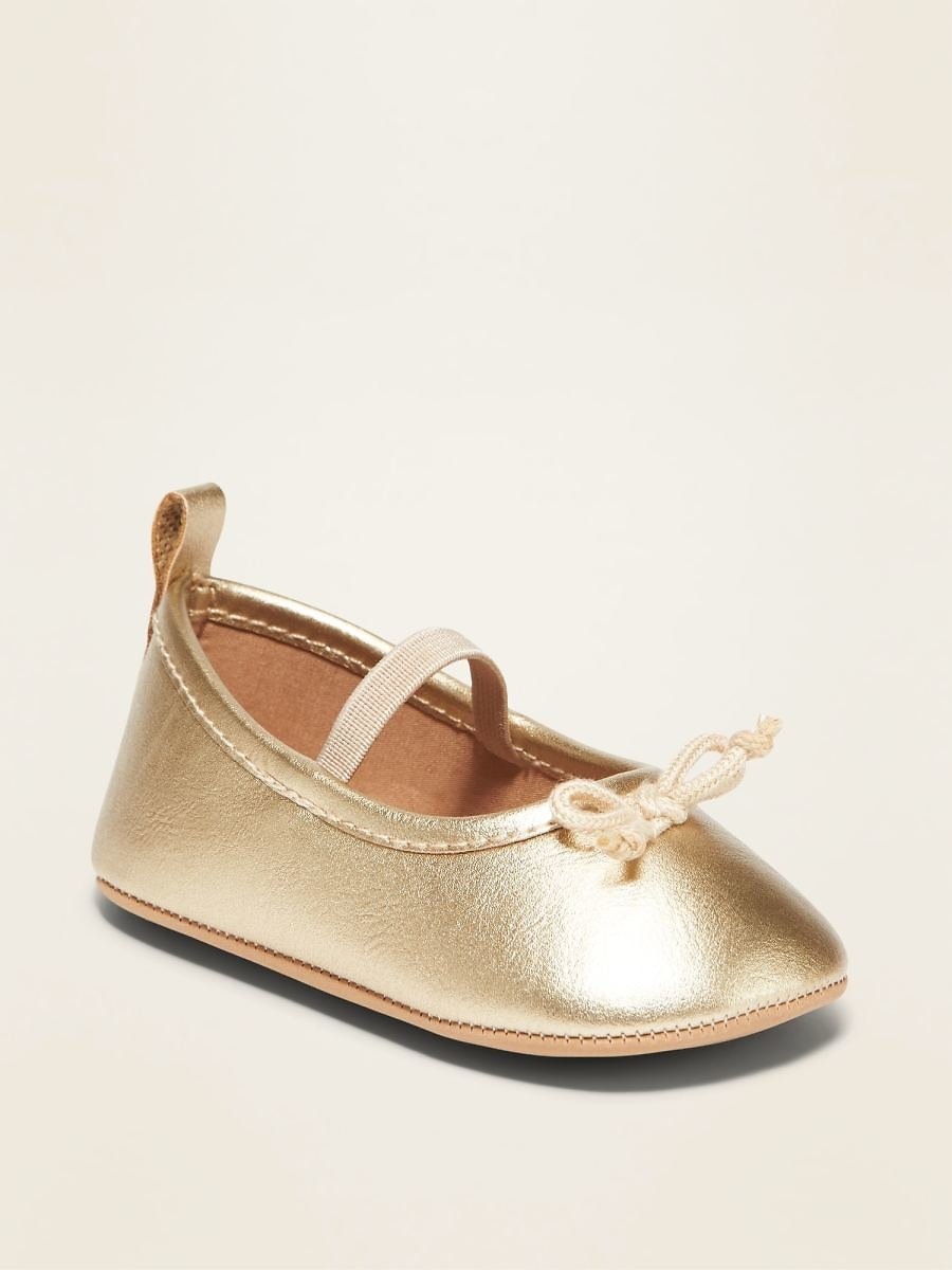 Metallic Faux-Leather Ballet Flats for Baby | Old Navy