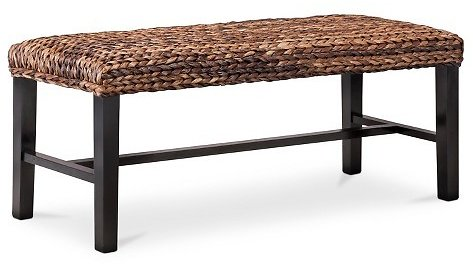 Up to 55 % Off Andres Seagrass Bench - Espresso