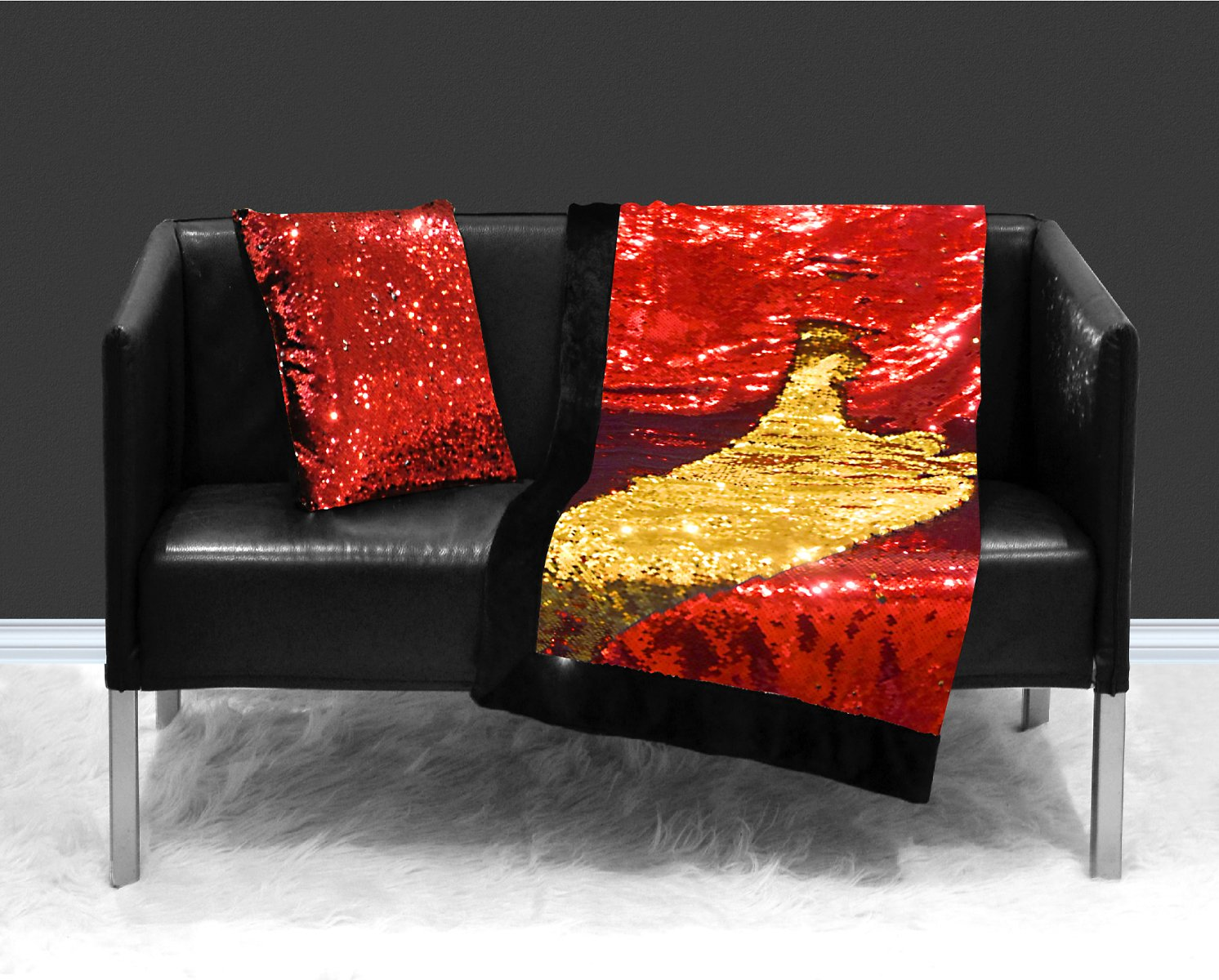 Reversible Sequin Sparkle Throw Blanket - 2 Colors