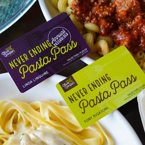 Today! Never Ending & Lifetime Pasta Pass (Sold Out)