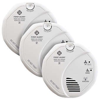 First Alert Z-Wave Smoke and Carbon Monoxide Alarm, 3-pack