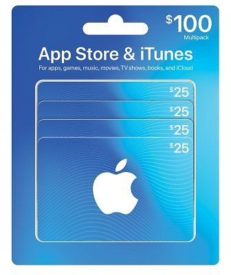 $100 App Store & ITunes Gift Cards for $84.47