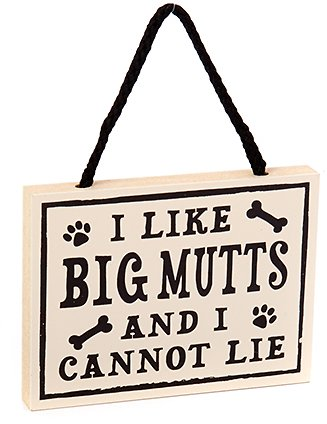 My Word Signs I Like Big Mutts Wall Décor