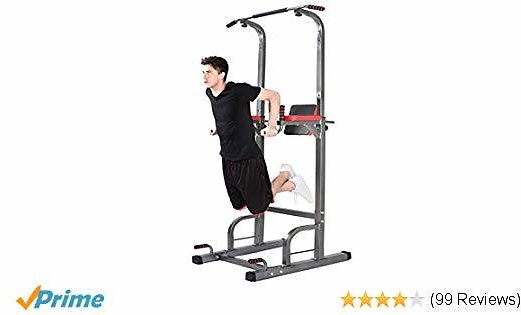 Lx Free Power Tower - Home Gym Adjustable Multi-Function Fitness Equipment Pull Up Bar Stand Workout Station